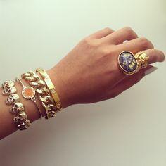 Skull Bracelet, Marc Jacobs Bracelet, Chain Bracelet, Cartier Bangle & Yves Saint Laurent Arty Ring