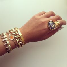 Skull Bracelet, Marc Jacobs Bracelet, Chain Bracelet, Cartier Bangle & Yves Saint Laurent Arty Ring