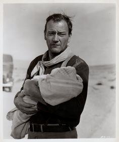 "John Wayne in ""The Three Godfathers"" USA Director: John Ford. Music Film, Art Music, Godfather Movie, John Wayne Movies, Western Movies, Western Film, John Ford, Merian, Actor John"