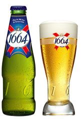 """1664- or """"seize"""" is the street name in France--common beer perfect with grenadine (to make a """"monoco"""") or frambroise or peche syrup"""