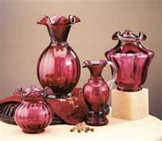 Beautiful Cranberry Fenton Art Glass!