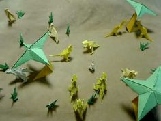▶ Stop Motion Origami Dinosaurs - YouTube