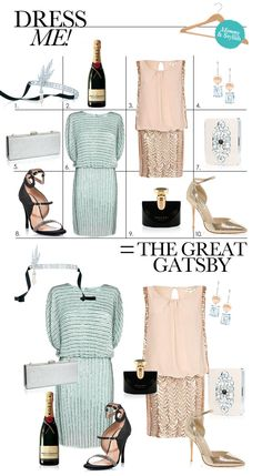 Dress Me: The Great Gatsby Fashion - Style - Tiffany Gatsby Collection Gatsby Look, Gatsby Theme, Gatsby Style, Gatsby Party, Gatsby Wedding, B Fashion, Fashion Themes, Fashion Fabric, Party Fashion