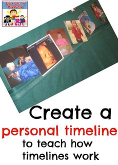 preschool timeline lesson, make a personal timeline to see how timelines work