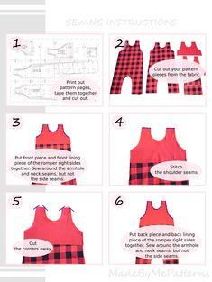 Romper Sewing Pattern PDF, baby romper pattern PDF, kids romper pattern PDF, sewing patterns pdf Baby Dress Patterns, Baby Clothes Patterns, Sewing Patterns For Kids, Sewing For Kids, Clothing Patterns, Baby Romper Pattern Free, Skirt Patterns, Coat Patterns, Blouse Patterns