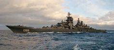 El crucero de combate ruso Almirante Najímov, de la clase Kirov, que se actualizará en los próximos años.