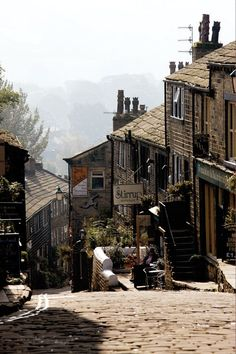 "sunflowersandsearchinghearts: ""Haworth, England, home of the Brontes via pinterest"""