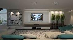 Resultado de imagem para painel de tv assimetrico pe direito alto