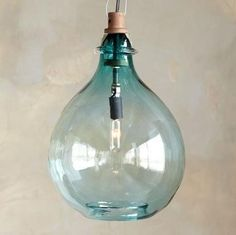 By Sundance Turquoise Glass Pendant Light