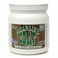 Charlie's Laundry Detergent Soap Powder by Charlie's Soap. $15.95. Charlie's Laundry Powder does 80 full size washloads for just pennies per load. Charlie's Soap rinses completely leaving no residue on your clothes or in your washer. Perfect for babies and those with sensitive skin. Charlie's Soap has no perfumes, no fragrances, no chemical brighteners. HE/front loader compatable. Clean fresh clothing and no oder buildup in your washer. Our post-consumer recycled ...