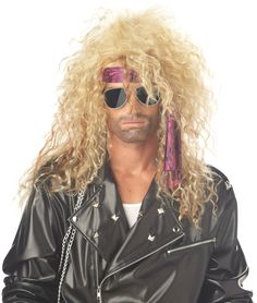 Heavy Metal Rocker Blonde Adult Wig