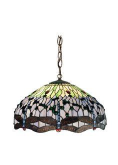 22 Inch W Tiffany Hanginghead Dragonfly Pendant