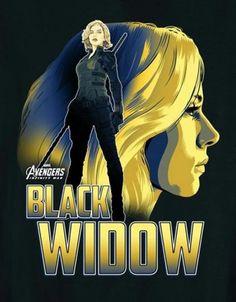 'Avengers: Infinity War' Black Widow Character Poster
