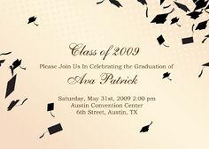 free graduation templates downloads | Graduation Invitation ...