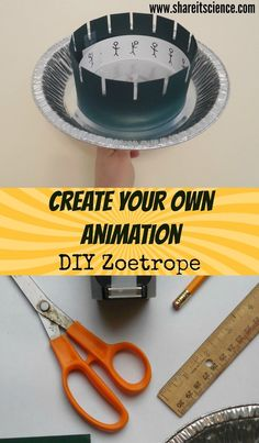 Share it! Science : DIY Zoetrope Animation STEAM Project. Create your own animation with this project that combines science, engineering and art