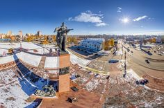 """Monument """"Heroes of the front and rear"""" Russia. Via airpano.com"""