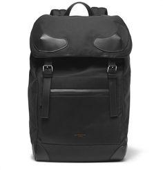 Givenchy - Leather-Trimmed Canvas Backpack MR PORTER