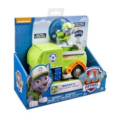 Paw Patrol Vehicle and Pup - Rocky's Recycling Truck