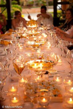 Wedding dinner glow