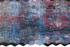 Curtain, a Collaged Work ready 2014   Verho, kollaasityö valmiina 2014   Teija Puranen