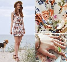 Take your sundresses to the beach (even if you're stuck in the city) with a straw fedora and espadrilles.  Photo courtesy of Lookbook.nu