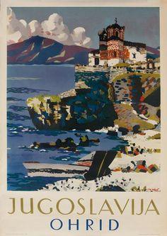 Ohrid •Yugoslavia (Now Macedonia) _________________________ #Vintage #Travel #Poster