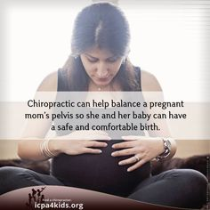 #PrenatalChiropractic (like Webster Technique) can help align a pregnant mom's pelvis for a safer and more comfortable birth!