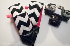DSLR SLR Padded Camera Strap  Medium Black by TheQuiltedValkyrie, $40.00
