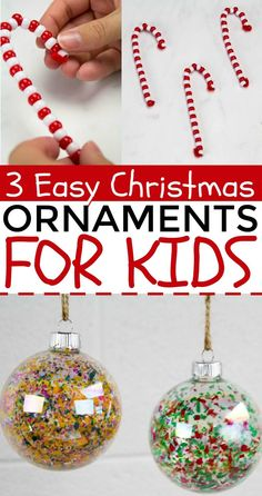 We made these 3 Easy Christmas Ornaments For Kids perfect for them to make to pass time and have fun. Christmas Gifts For Teenagers, Christmas Crafts For Kids To Make, Homemade Christmas, Diy Christmas Gifts, Kids Christmas, Holiday Crafts, Holiday Fun, Easy Christmas Ornaments, Handmade Christmas Decorations