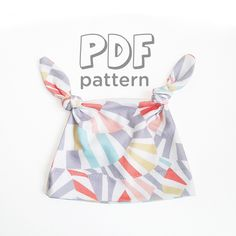 Double Knot Baby Hat Sewing Pattern, PDF Download