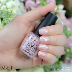 This new floral glitter is like a breath of fresh air #OPISoftShades Get it now at Ulta and Macy's