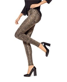 HUE Animal Denim Leggings