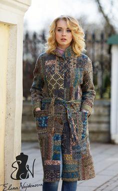 """пальто в технике """"войлочный пэчворк """" – купить в интернет-магазине на Ярмарке Мастеров с доставкой"""