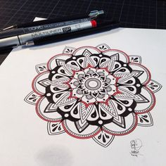 New mandala tattoo design. 12cm. #woerm #mandala #tattoodesign #copic