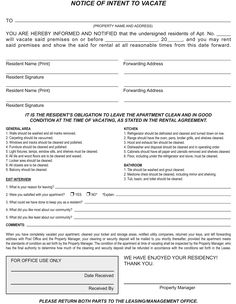 Last Will Free Last Will And Testament Form Document Sample - Intent to vacate letter template