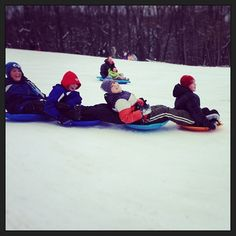 Sledding at Goodyear Heights Metro Park, Photo by Instagram user robertson77