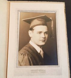 Vintage Graduation Photograph Male Graduate Picture Black & White Scholar  | eBay