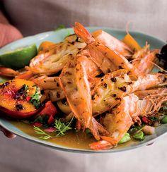 King prawns, butterflied and basted in lemon and butter Prawn Recipes, Seafood Recipes, Butterfly Prawns, Tamarind Paste, Prawn Shrimp, Lemon Butter, Garam Masala, Coriander, Favorite Recipes