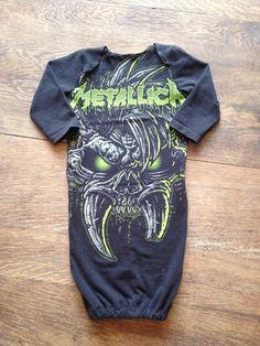 5c533475bc9e3e Metallica newborn baby gown Baby Jurk, Katoenen Luiers, Kinderkledij Jongens,  Kind Koorts,