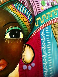 Risultati immagini per romina lerda artist Art Pop, Black Women Art, Black Art, Afrique Art, African Art Paintings, African American Art, Fabric Painting, Tile Painting, Painting Abstract