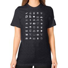 IconSpeak Unisex T-Shirt (on woman)