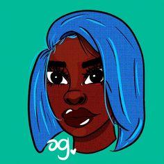 Black Women Art, Black Art, Cartoon Drawings, Cartoon Art, Tiki Toki, Realistic Cartoons, Black Girl Cartoon, Full Lips, Digital Art Tutorial