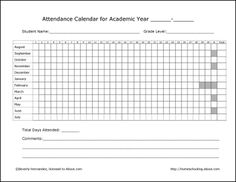 Printable Course Attendance Sheet In Pdf Format  Printable Charts
