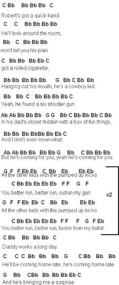 Pumped Up Kicks Piano Sheet Music - Bing images