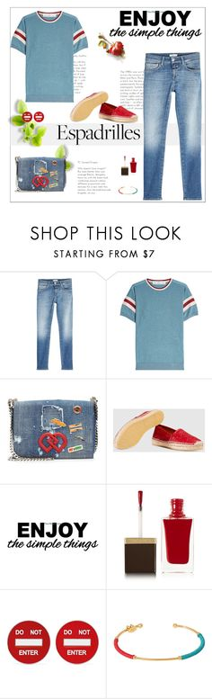 """""""Step into Summer: Espadrilles"""" by likepolyfashion ❤ liked on Polyvore featuring Closed, Golden Goose, Dsquared2, Gucci, WALL, Tom Ford, Moschino, Gas Bijoux and espadrilles"""