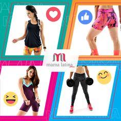 E aí, por qual look da #MamaLatina você se apaixonou? Comente de acordo com a imagem e mostre para nós qual o seu modelo favorito :heart::+1::smiley::blush: Deu vontade? Compre pelo nosso site: www.mamalatina.com.br #modafitness #amei #look #academia #treino #corrida #musculação