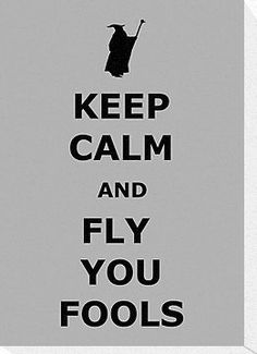KEEP CALM AND FLY YOU FOOLS ( Lord of the rings ) by karlangas