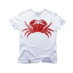 Red Crab: Organic Fine Jersey Short Sleeve T-Shirt from Mouse Theory