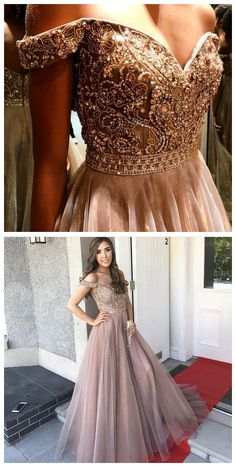 Luxurious Off the Shoulder Long Prom Dresses with