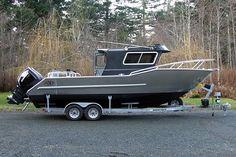 Jaxon Craft Custom-Built Deep V Offshore Sport Fishing Boats :: Merville, BC Aluminium Boats For Sale, Aluminum Boat, Trailerable Houseboats, Float Life, Small Yachts, Klr 650, Sport Fishing Boats, Boat Interior, Castle House